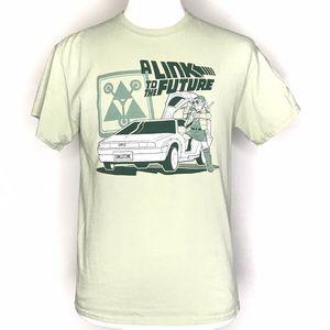 Gildan Shirts - Link to the Future Green Graphic Tee Shirt A080535